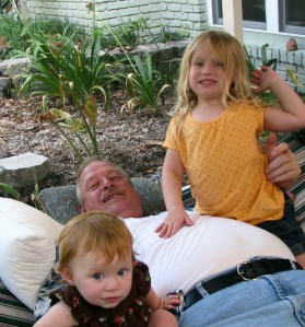 July4th 2009 Hammock full of Love-Clare, Maeline Simpson & Grandpa Dinsmore